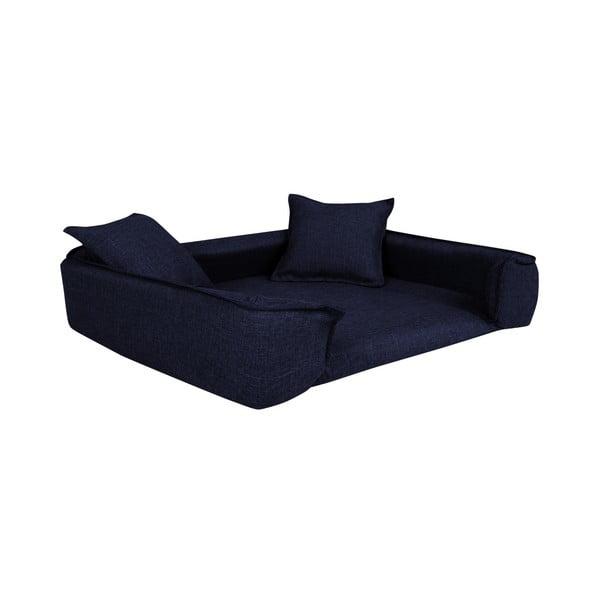 Tmavě modrý pelíšek pro psy se 2 dekorativními polštářky Marendog Zen