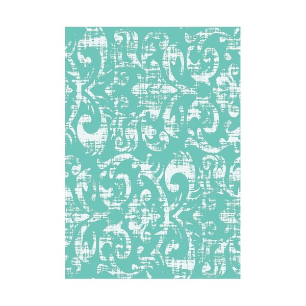Koberec z vinylu Wallpaper Turquesa, 133x200 cm