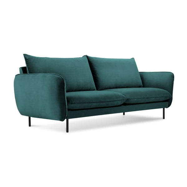 Ciemnozielona aksamitna sofa Cosmopolitan Design Vienna, 160 cm
