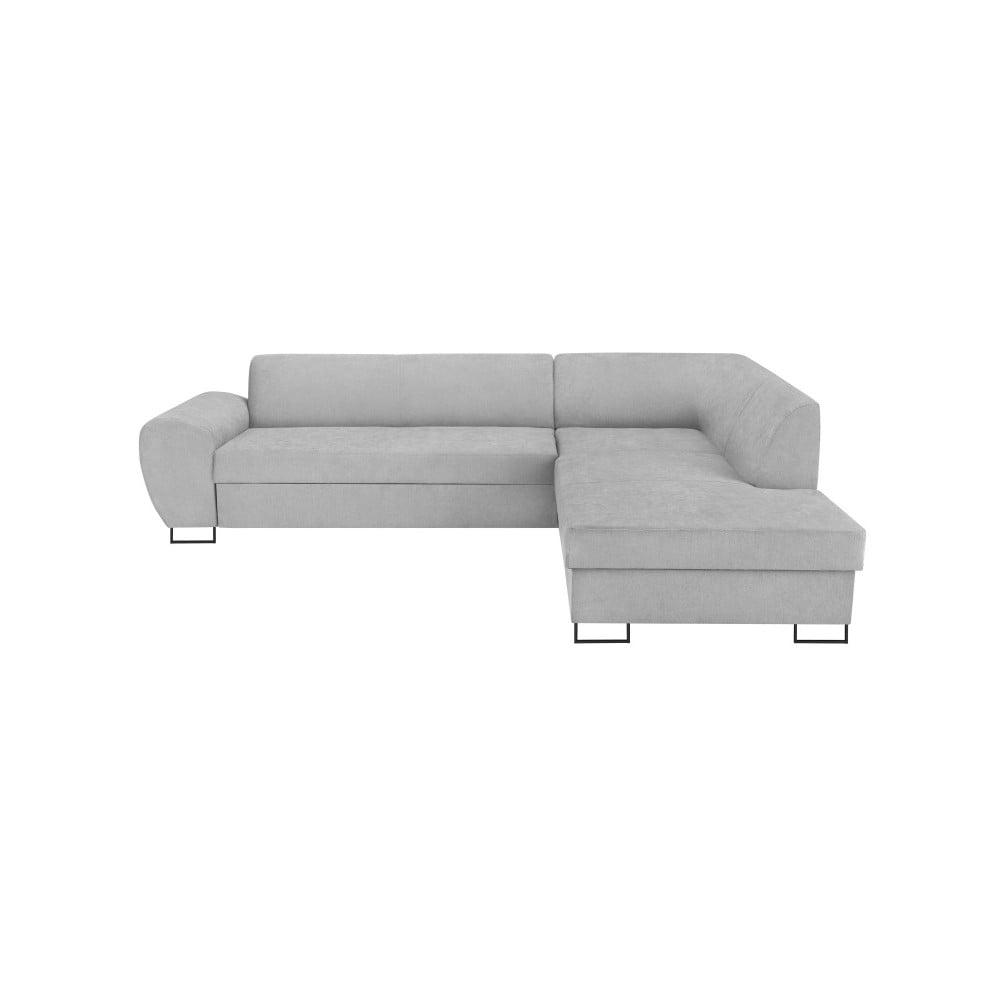 Šedá rohová rozkládací pohovka s úložným prostorem Kooko Home XL Right Corner Sofa Puro