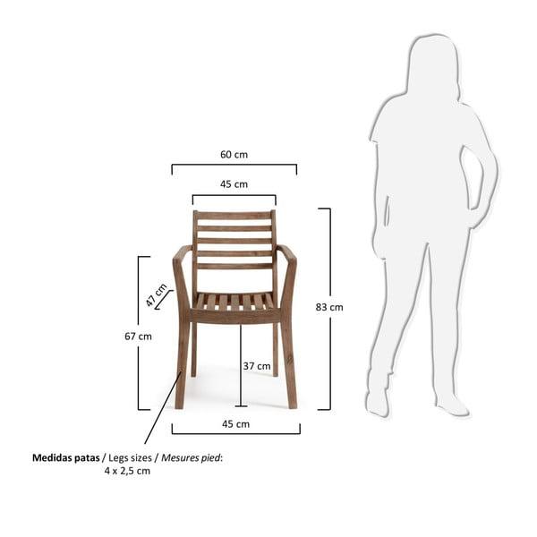 Sada 4 židlí La Forma Berkeley