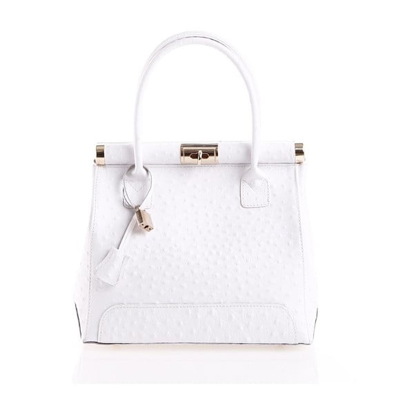 Kožená kabelka Rosalind, bílá