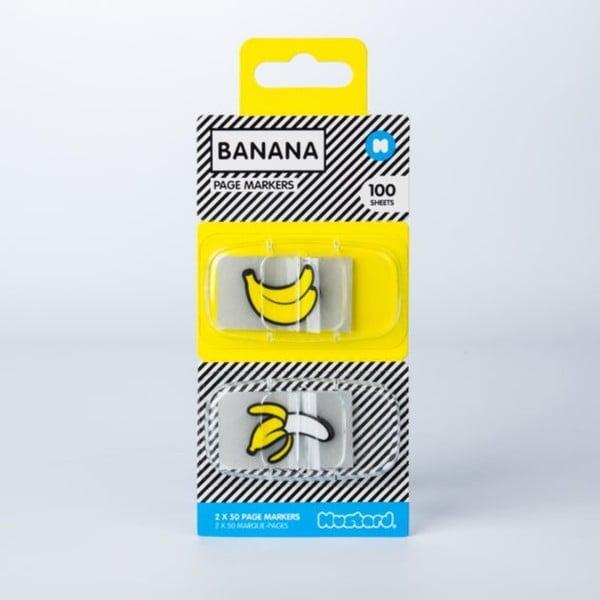 Sada 100 ks lepicích záložek Just Mustard Banana
