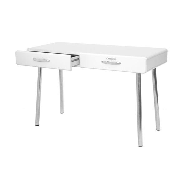 Bílý pracovní stůl Tenzo Cobra