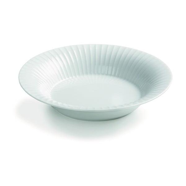 Biely porcelánový polievkový tanier Kähler Design Hammershoi, ⌀ 21 cm