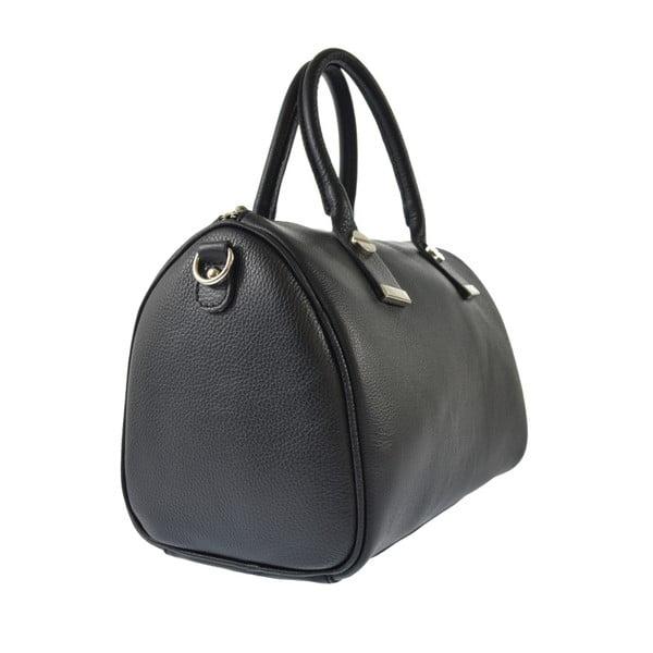Černá kožená kabelka Chicca Borse Jenn