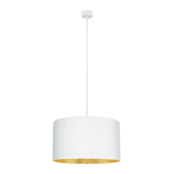 Bílé závěsné svítidlo s vnitřkem ve zlaté barvě Sotto Luce Mika, ⌀50cm