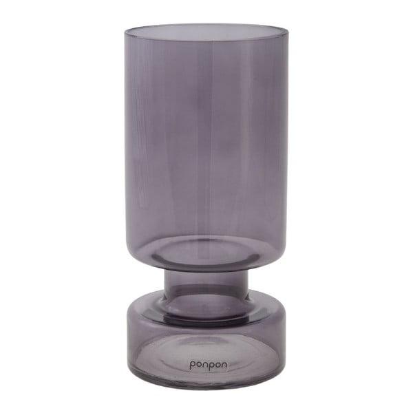 Váza/svícen Delhi 17.8 cm, šedá