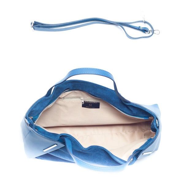 Kožená kabelka Mangotti 878, modrá
