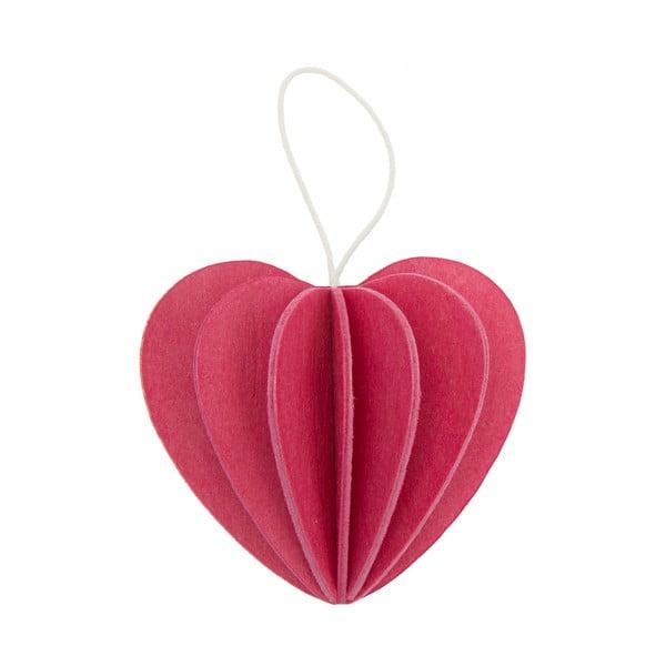 Skládací pohlednice Heart Pink, 4.5 cm