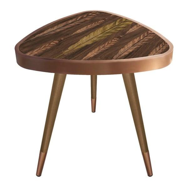 Príručný stolík Maresso Feather Triangle, 45 × 45 cm