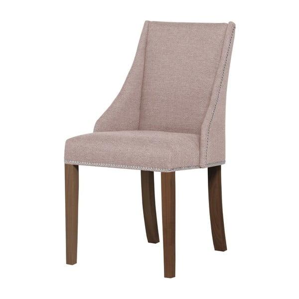 Patchouli púder rózsaszín bükkfa szék, sötétbarna lábakkal - Ted Lapidus Maison