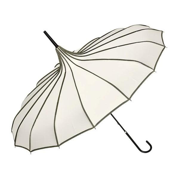 Krémový holový deštník Von Lilienfeld Pagoda Justine, ø 90 cm