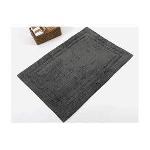 Černá ručně tkaná koupelnová předložka z prémiové bavlny Margot, 60x90 cm
