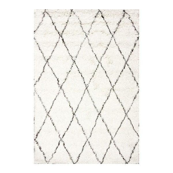 Vlněný koberec Ziggy Ivory, 120x183 cm
