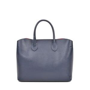 Tmavě modrá kožená kabelka Isabella Rhea Manuel