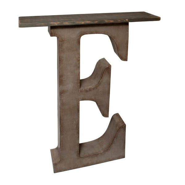 Dekorativní písmeno s poličkou E