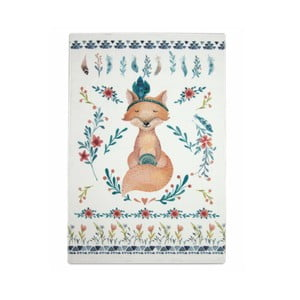 Dětský ručně vyrobený koberec Naf Naf Fox, 150 x 100 cm