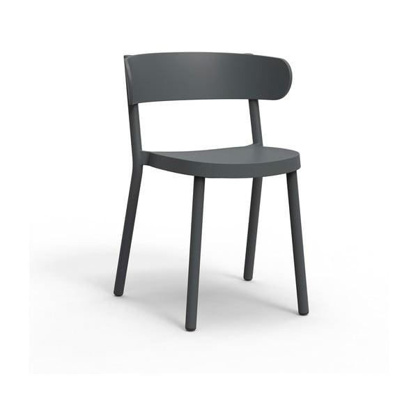 Set 2 scaune de grădină Resol Casino, gri închis