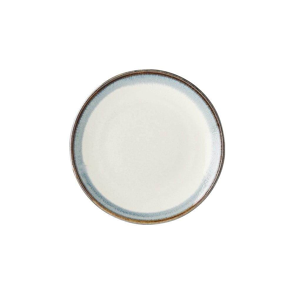 Bílý keramický talíř MIJ Aurora, ø 25 cm