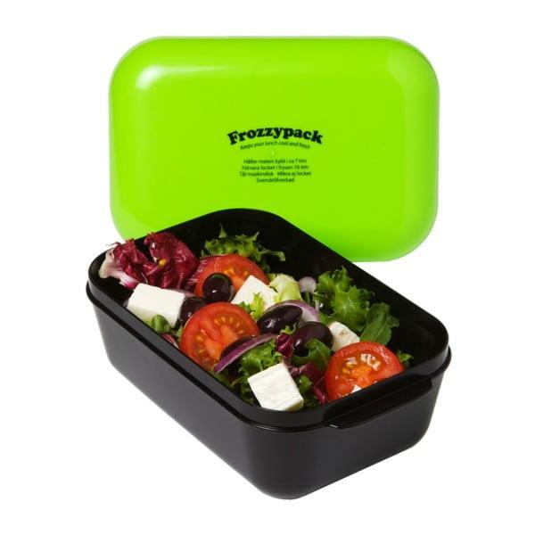 Chladící svačinový box Frozzypack Original, black/orange