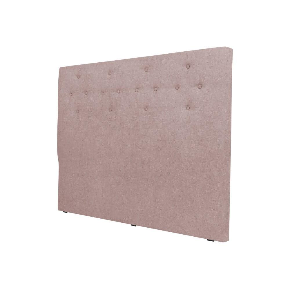 Světle růžové čelo postele Cosmopolitan design Barcelona, šířka 202 cm