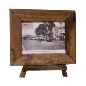Rámeček  na fotografie z teakového dřeva HSM Collection Antique, 33x28cm