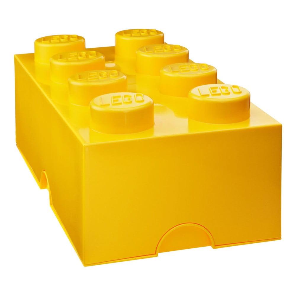Tmavě žlutý úložný box LEGO®