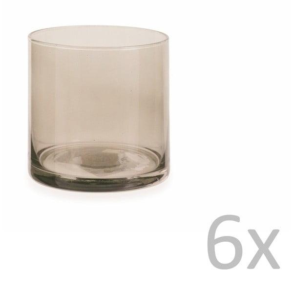 Sada 6 hnedých pohárov Villa d'Este Cala Jondal Ambra, 420 ml