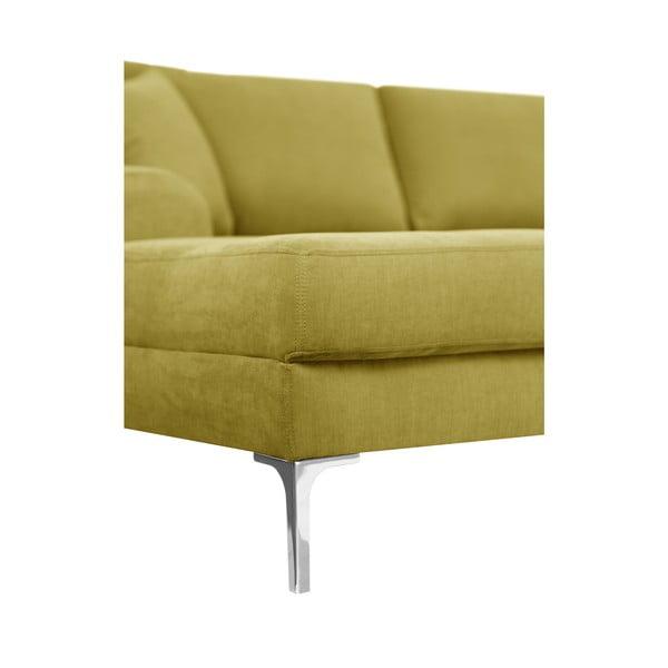 Canapea cu 3 locuri Corinne Cobson Dillinger, galben