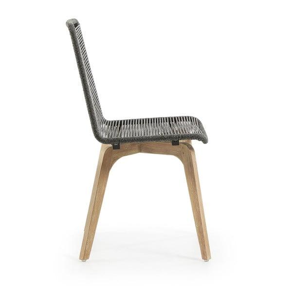 Set 2 scaune La Forma Glendon, gri deschis