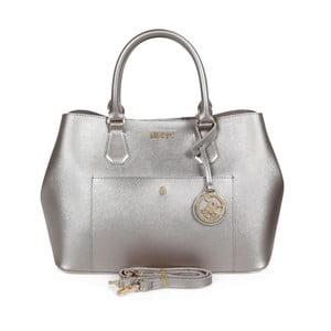 Kabelka ve stříbrné barvě z eko kůže Beverly Hills Polo Club Mona