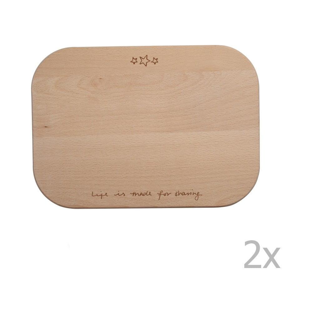 Sada 2 prkének z bukového dřeva T&G Woodware Conran