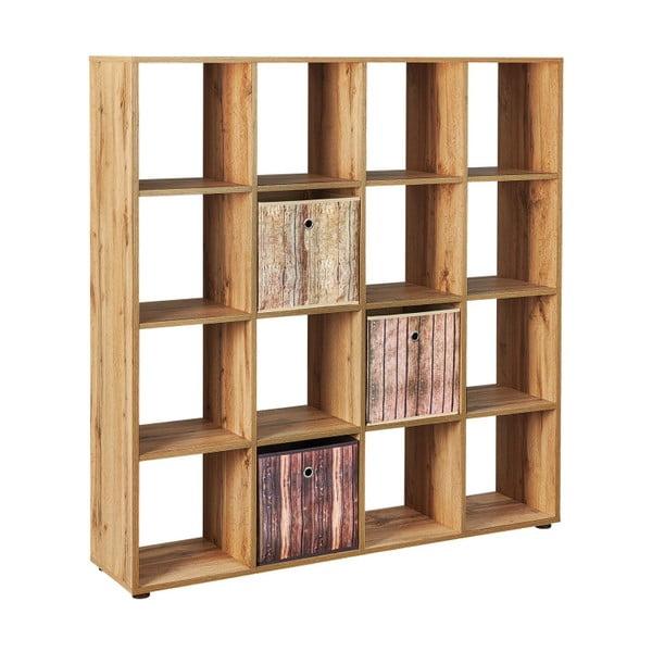 Knihovna Interlink Damian Wild Oak Squaro Duro, 139 x 144 cm