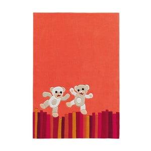 Ručně tkaný koberec Joy Bears, 110x160 cm