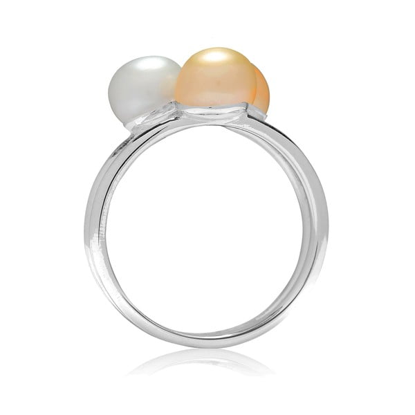 Prsten s perlou Nova Pearls Copenhagen Delphine, vel.58