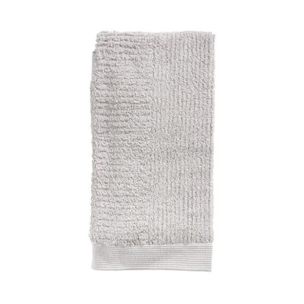 Světle šedý ručník ze 100% bavlny Zone Classic, 50x100cm