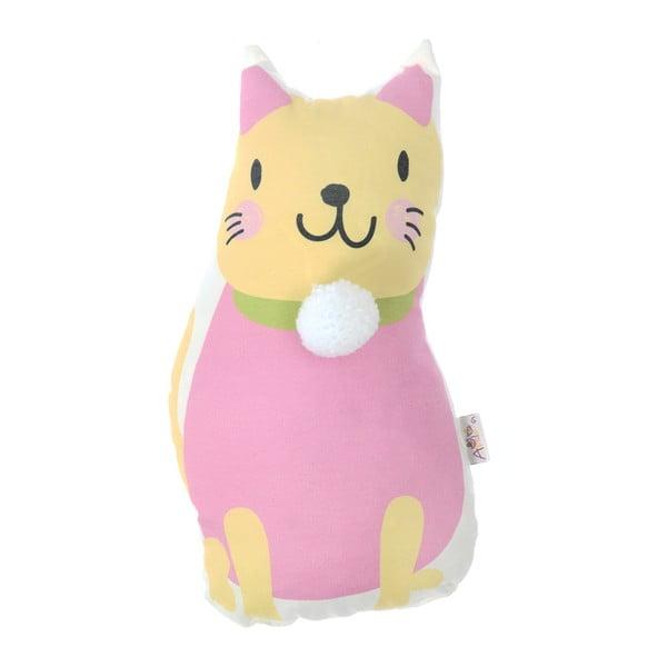 Pernă din amestec de bumbac pentru copii Apolena Pillow Toy Kitten, 17 x 34 cm
