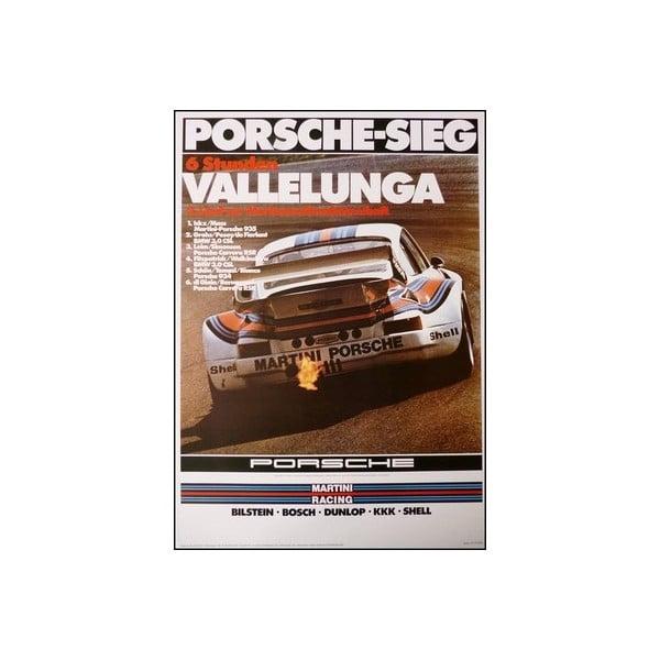 Plakát Porsche Vallelunga 1976, 70x50 cm