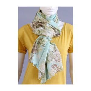 Rozkvetlý šátek zelený