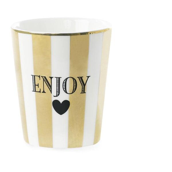 Keramický hrnek Miss Étoile Enjoy Stripe Gold