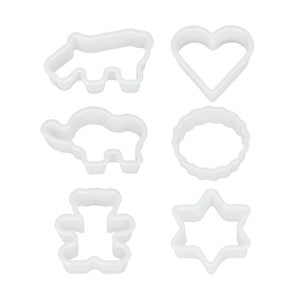 Sada 6 plastových vykrajovátek Metaltex Cookie Cutters