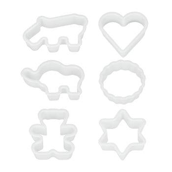 Set 6 forme din plastic pentru prăjituri Metaltex Cookie Cutters imagine