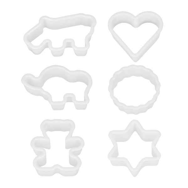 Cookie Cutters 6 db-os műanyag sütikiszúró szett - Metaltex