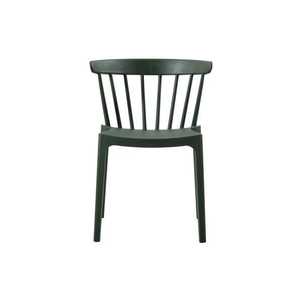 Tmavě zelená jídelní židle vhodná do interiéru i exteriéru WOOOD Bliss