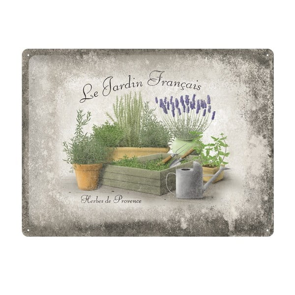 Plechová cedule Provence, 30x40 cm