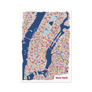 Nástěnná mapa New York, 70x50 cm