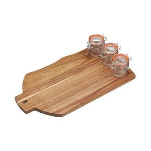 Dřevěné prkénko s mističkami na dipy Kitchen Craft Master Class