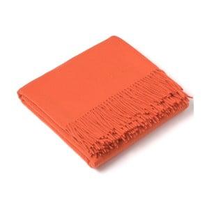 Oranžová kašmírová šála Bel cashmere Hannah, 190x140cm