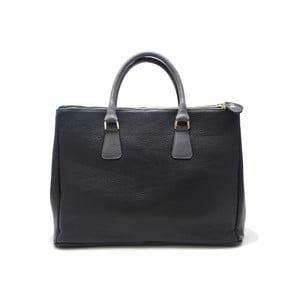 Kožená kabelka Pelle Nero/Grigio